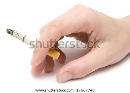 Holding a Cigarette - stock photo