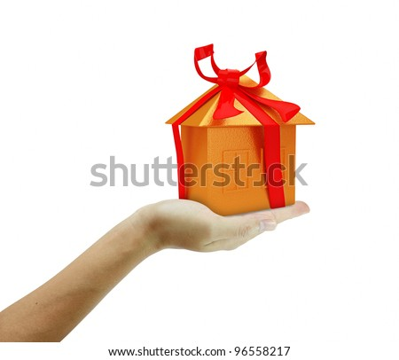 holding a Golden Home - stock photo