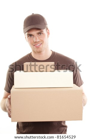 holding a package - stock photo