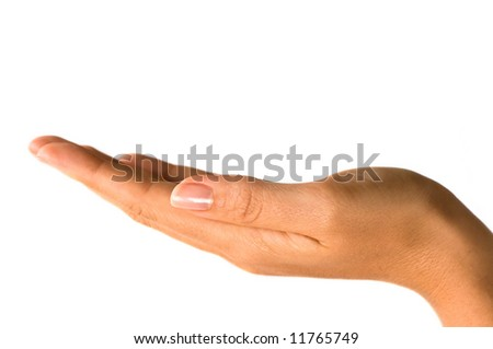Holding anything - stock photo
