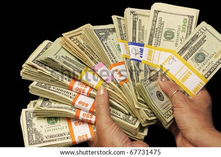 Holding Cash - stock photo