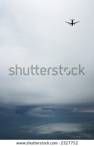 Holding for the Storm - stock photo