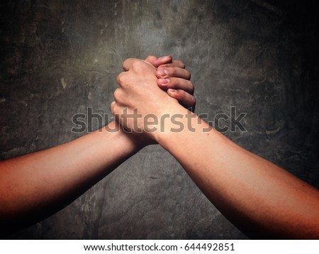 Holding hands is a sign of deep friendship