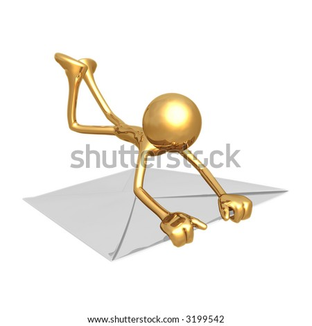Holding On E-Mail - stock photo