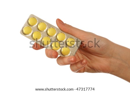 Holding tablets - stock photo
