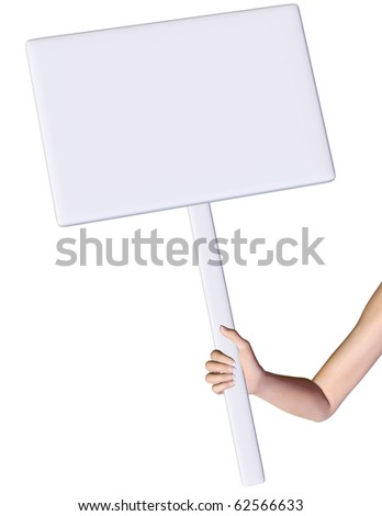 holding the board arm only - stock photo