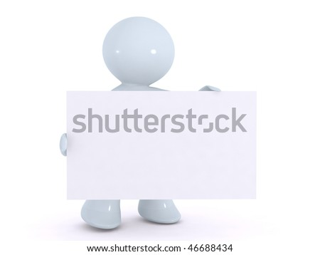 holding up an advertisement sign sheet - stock photo