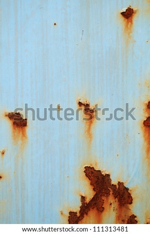 hole chipped paint rusty textured metal background - stock photo