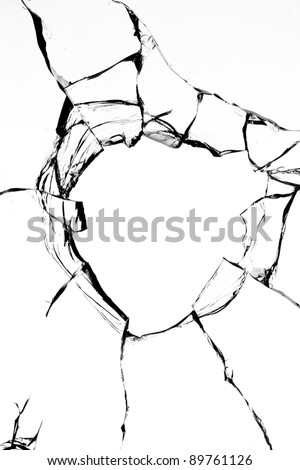 Hole  glass  shot - stock photo