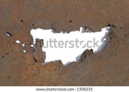 hole in blight - stock photo