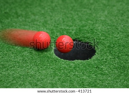 Hole In One - stock photo