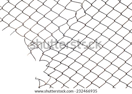 hole in the corner of mesh wire fence
