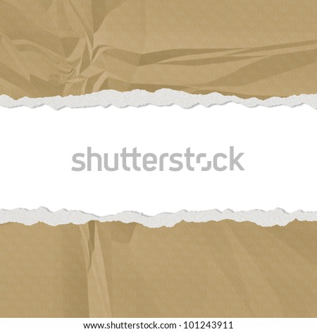 Hole in the green paper with torn sides paper texture - stock photo