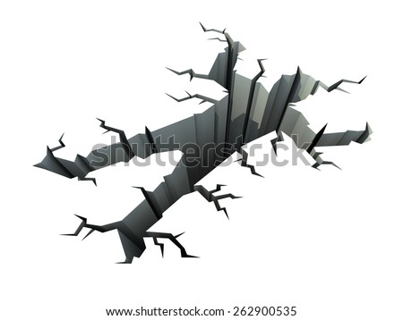 hole in the ground in the shape of the human body - stock photo