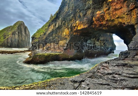 Hole in the wall, Eastern Cape, South Africa - stock photo