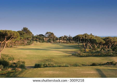 hole one, oitavos golf course, portugal - stock photo
