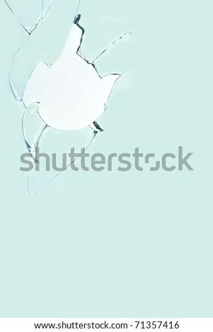 Hole  paper  sheet   glass  broken - stock photo