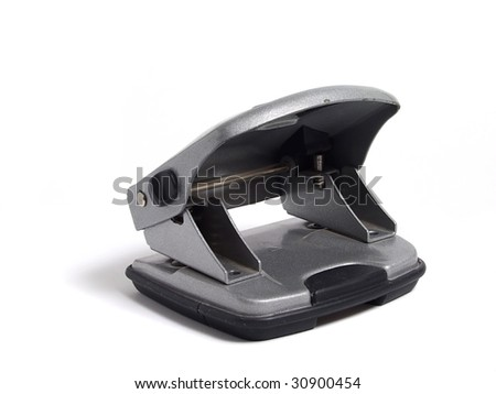 Hole puncher over white