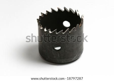 hole saw drill bit - stock photo