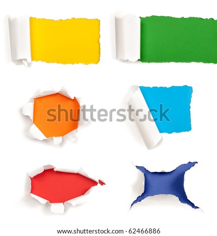 Holes in paper - stock photo