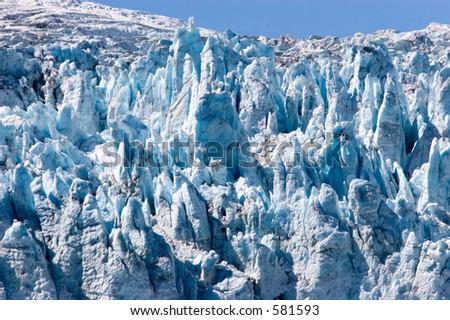Holgate Glacier in Alaska - stock photo