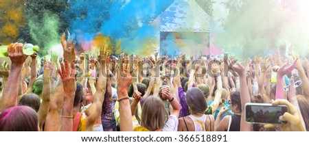 Holi Festival celebration - stock photo