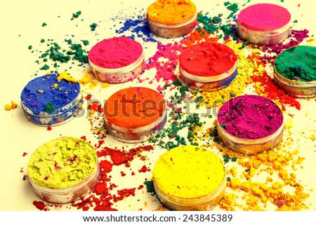 Holi festival colours - stock photo