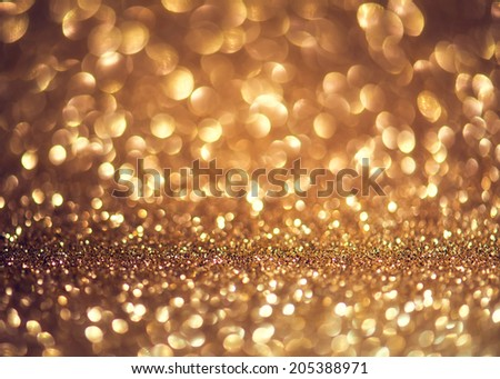 Holiday Abstract Glitter Defocused Background With Blinking Stars. Blurred Bokeh