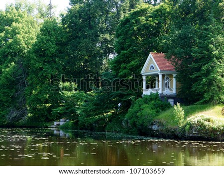 Holiday apartment of manor on coast of a pond
