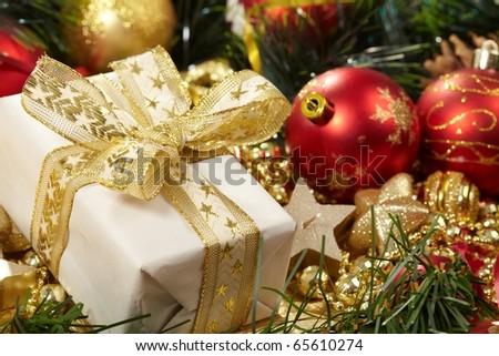 Holiday background - stock photo