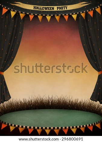 Holiday background, or poster or illustration for Halloween parties - stock photo