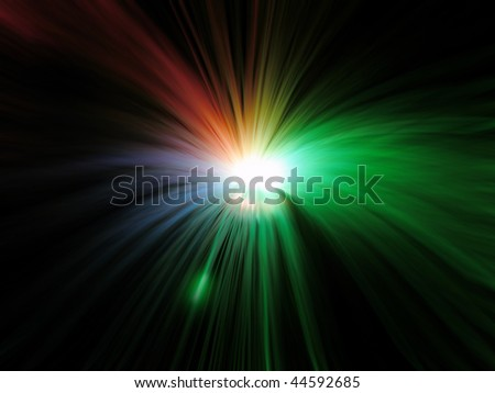 Holiday blur stars sparkler - stock photo