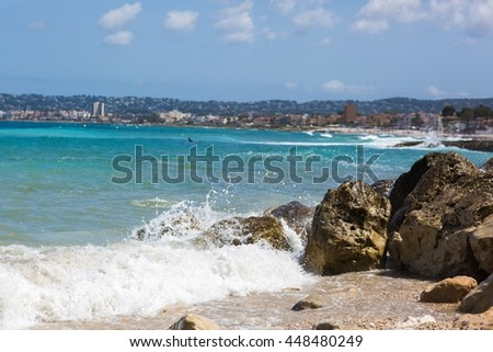 Holiday by the Spanish seaside - stock photo