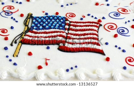 Holiday Cake-Memorial day- 4th of July,Veterans day. - stock photo
