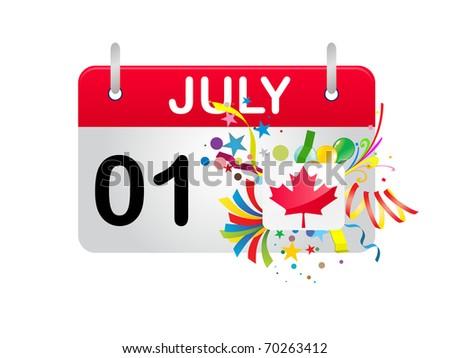 Holiday Calendar CANADA National Day - stock photo