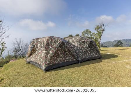 holiday camping at pang ung  maehongsorn thailand - stock photo