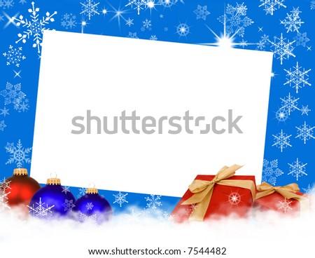 Holiday card - stock photo