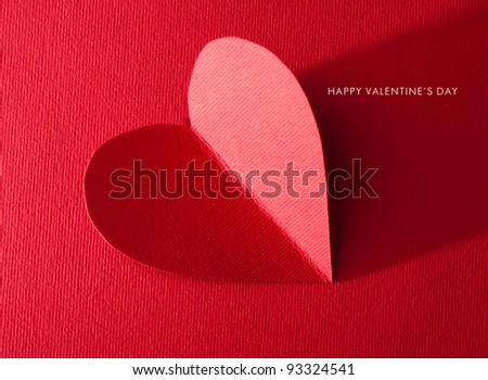 Holiday Card. Heart for Valentines day.  Look through my portfolio to find more images of the same series - stock photo