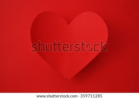 Holiday Card. Heart from paper Valentines day.  - stock photo