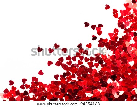 Holiday card with hearts. Look through my portfolio to find more images of the same series - stock photo