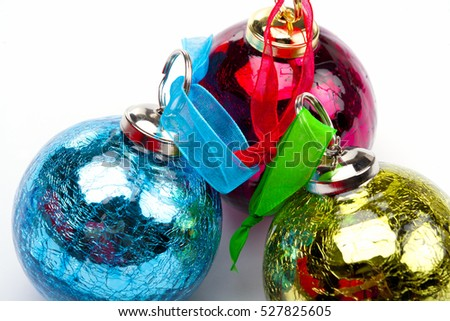 Holiday christmas bauble background