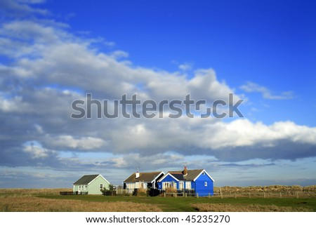 holiday cottages - stock photo