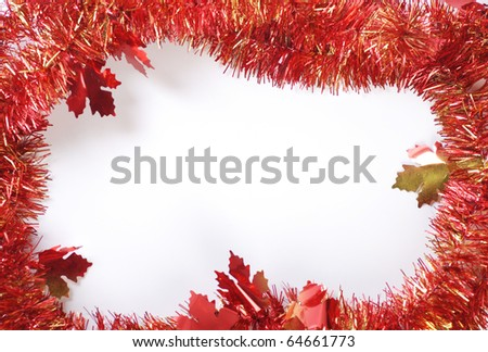 holiday decoration and blank background - stock photo