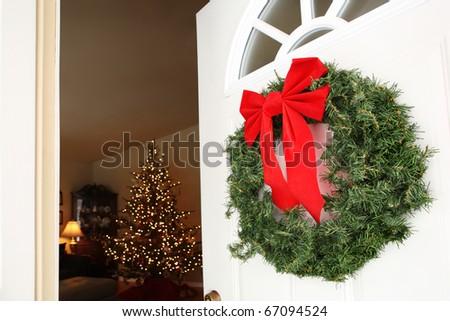 Holiday Entrance - stock photo