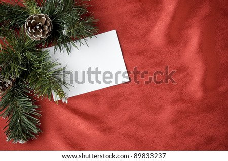 holiday festive greeting ideas with black card, christmas props