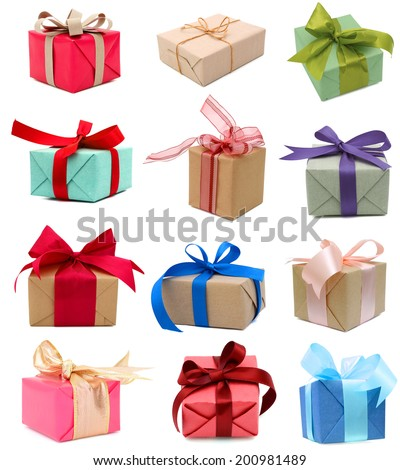 Holiday gift boxes, greetings day  - stock photo