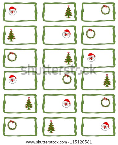 Holiday Gift Tags - stock photo