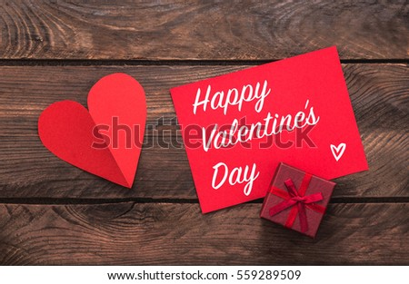Valentines day greeting card small gift stock photo 540792868 holiday greeting card and small gift heart decoration negle Gallery