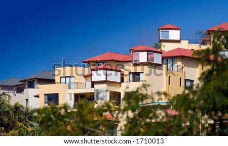 holiday house during the summer - stock photo