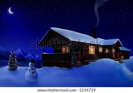 Holiday house/photographic-retouching - stock photo